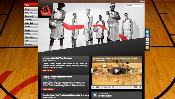 London United Basketball Website