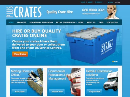 Pluscrates Crate Hire SEO Case Study