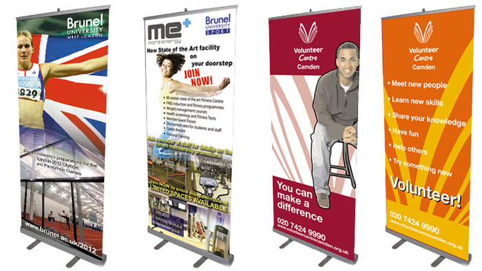 Roller Banners - Various including Brunel, Camden Volunteers, ME more energy