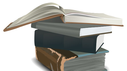 books stack illustration