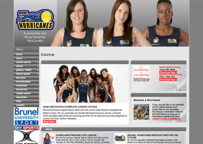 Brunel Hurricanes Netball Website