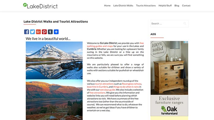 GO Lake District website