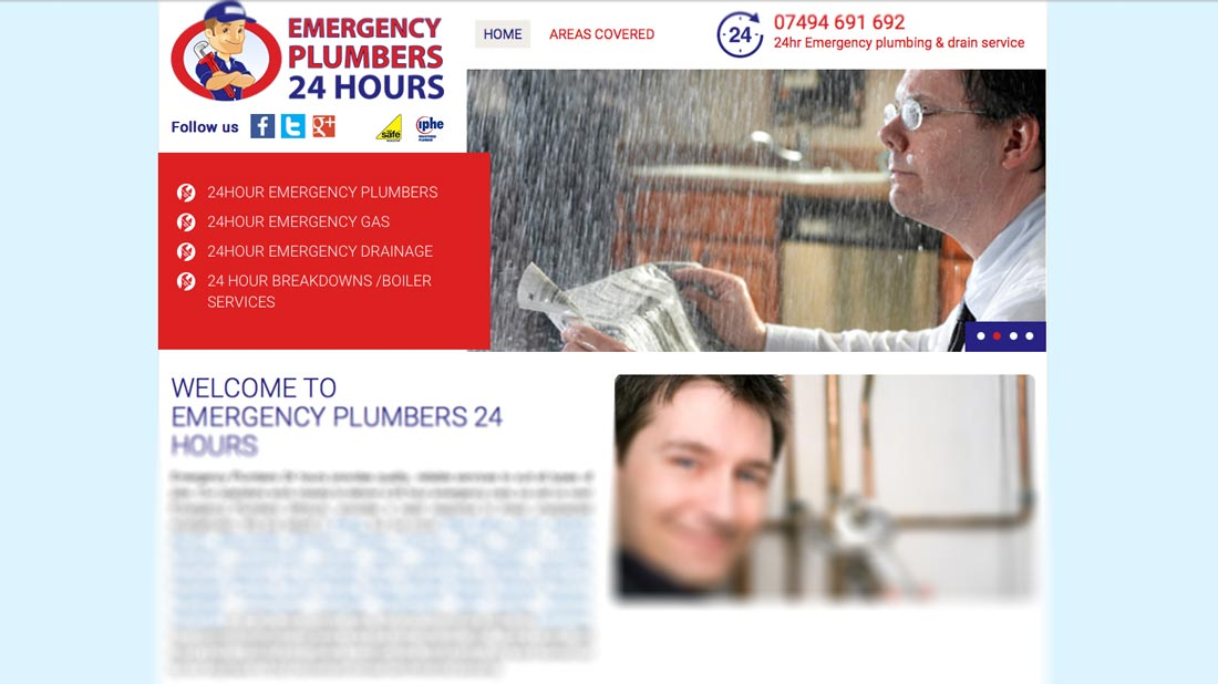 Emergency Plumber 24 hours website