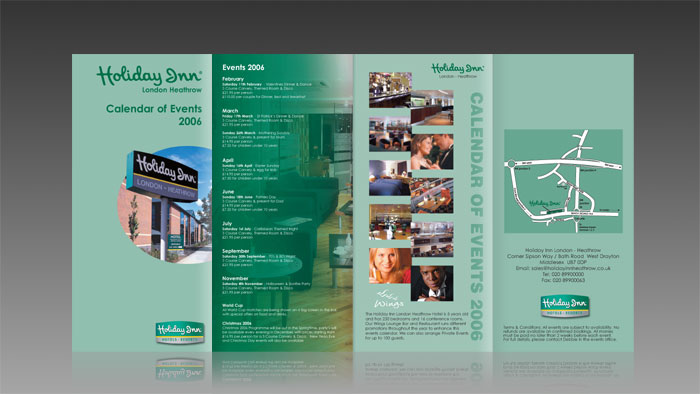 Holiday Inn 8 Page DL Leaflet