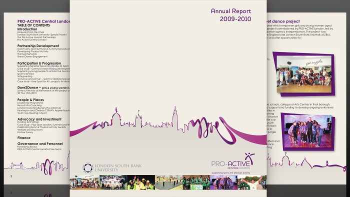 Pro-Active Central Annual Report front cover