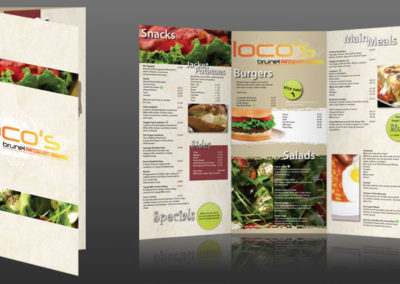 Locos Menu – Brunel University