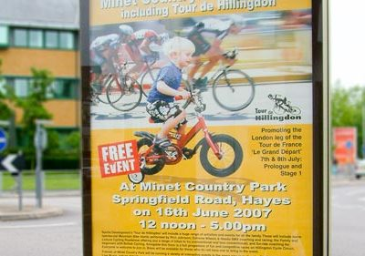 Tour De Hillingdon – Outside Poster Display Advert