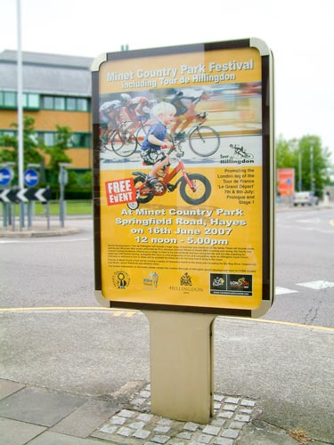 tour de hillingdon billboard poster display