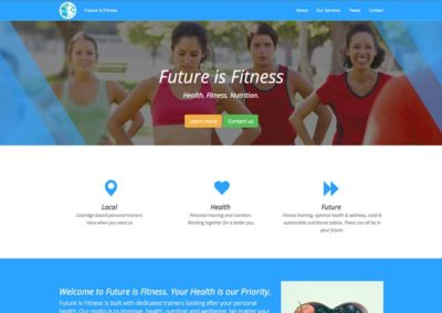 Future is Fitness Website