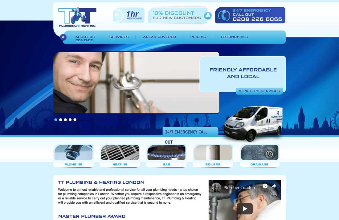Plumber SEO Case Study: TT Plumbing & Heating Website